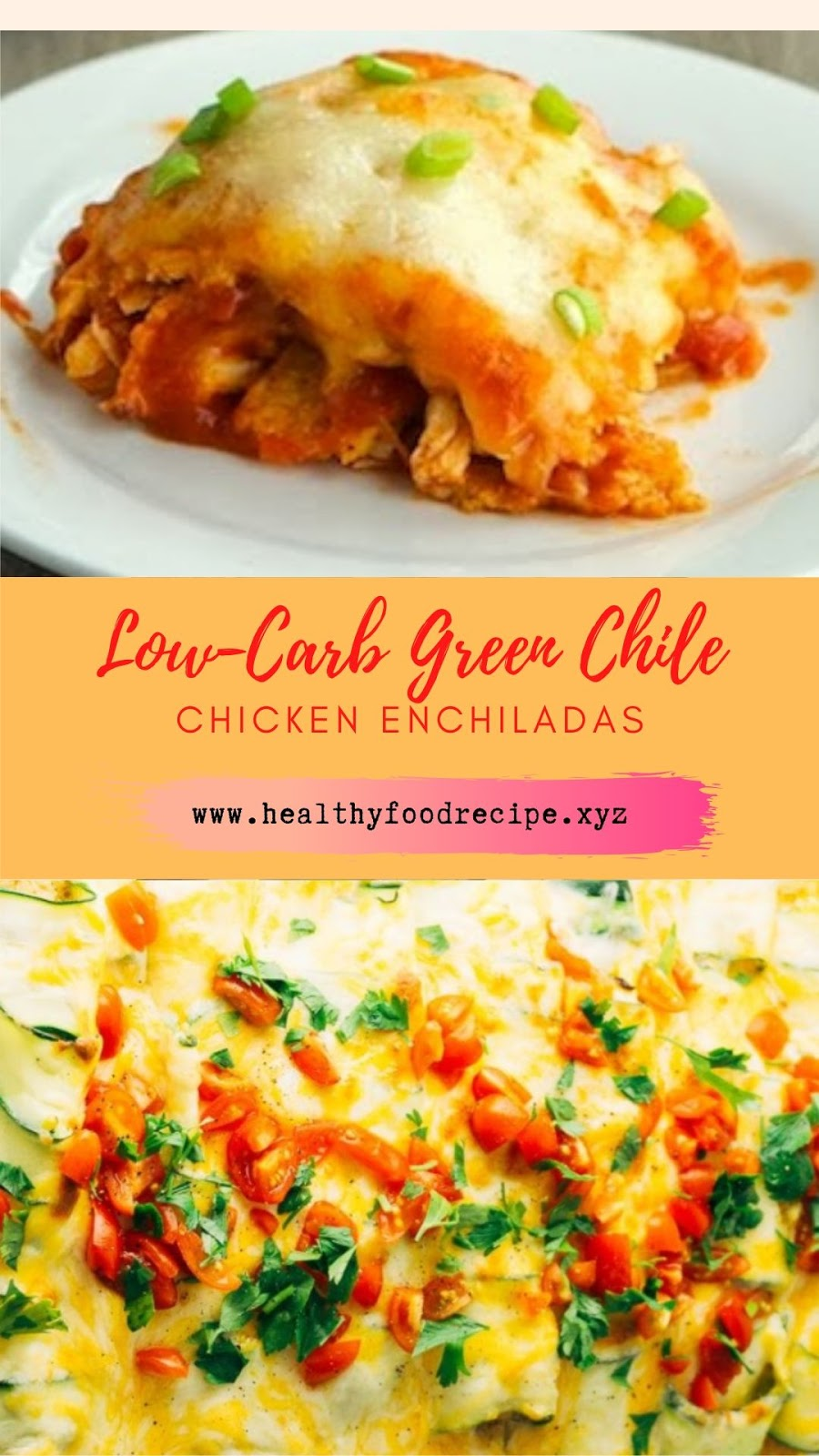 Low-Carb Green Chile Chicken Enchiladas