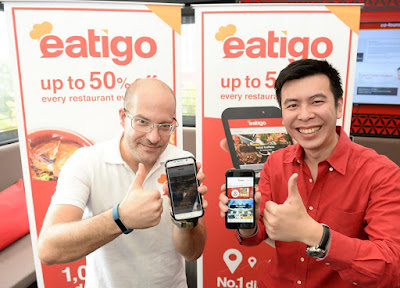 Source: eatigo. From left: Michael Cluzel, Co-founder & CEO of eatigo International and Pumin Yuvacharuskul (Louis), Co-founder & CEO Thailand of eatigo International at the launch of eatigo Malaysia.