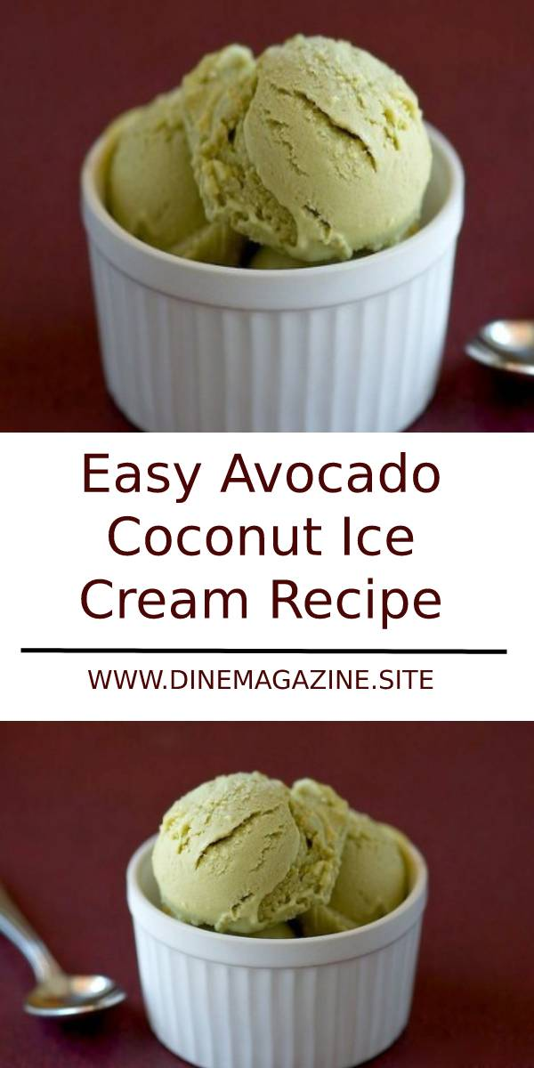 Easy Avocado Coconut Ice Cream Recipe #avocado #icecream #icecreamrecipe #coconut #dessert #dessertrecipe