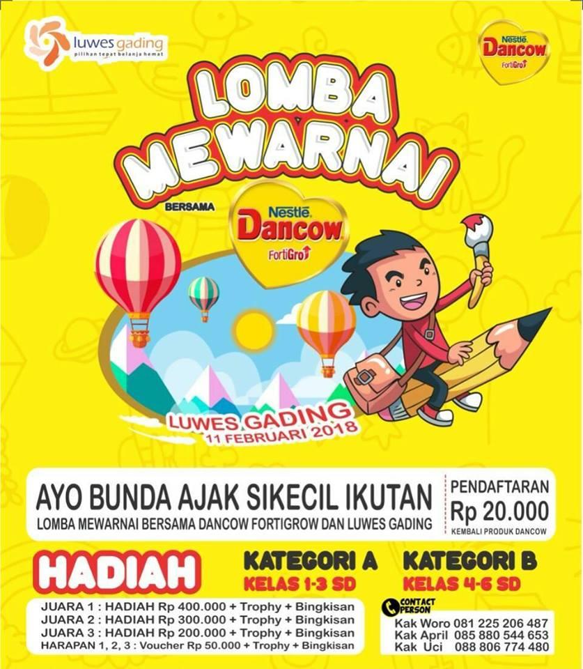 Lomba Mewarnai Bersama Nestle Dancow dan Luwes Gading