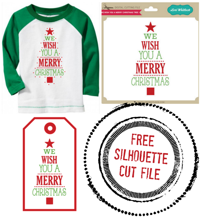 Free silhouette christmas cut file design