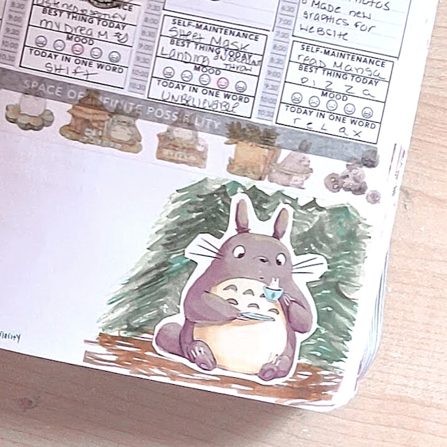 totoro in my passion planner