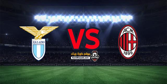 نتيجة مباراة ميلان ولاتسيو اليوم 23 ديسمبر 2020 في الدوري الايطالي