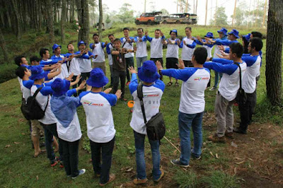 serunya outbound games bersama gravity adventure