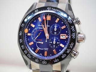 グランドセイコー スプリングドライブ クロノグラフ GMTの誕生10周年記念の限定モデル SBGC219 定価1,782,000円(税込み)