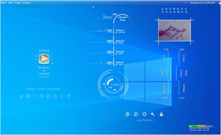 Rainmeter :  Προσαρμόστε την επιφάνεια εργασίας του υπολογιστή σας