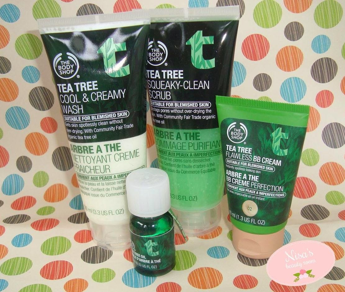 Review The Body Shop Tea Tree Power Trio + Tea Tree Flawless BB Cream