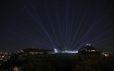 Ο νέος φωτισμός της Ακρόπολης (video)
