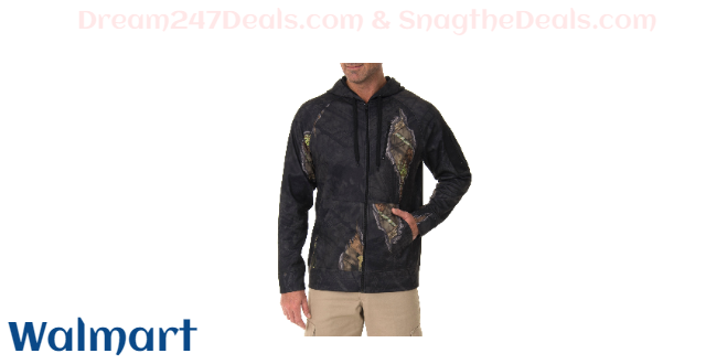 Mossy Oak Men's Performance Tech Fleece Hoodie