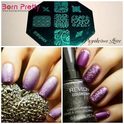 nail art stamp plate QA65 from Born Pretty Store, Arabesque nailart