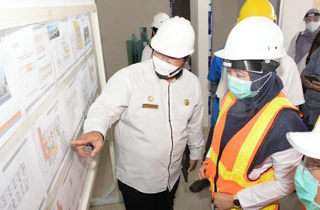 Akan Diresmikan 17 Agustus, Wagub Inspeksi Pembangunan RS Darurat Covid-19 di RSUD NTB