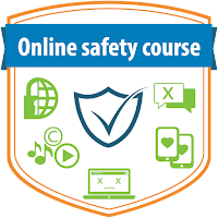 """""""Online safety course"""" badge"""