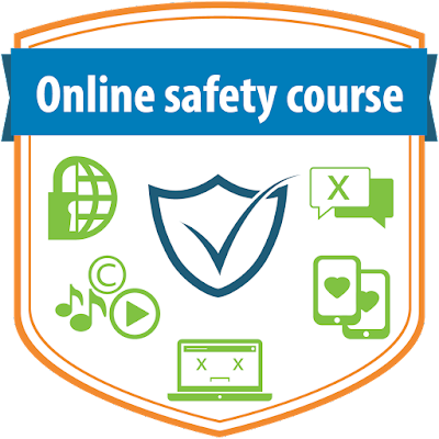 """Online safety course"" badge"