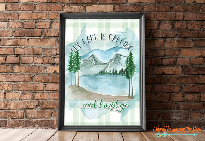 Printable Lake Art