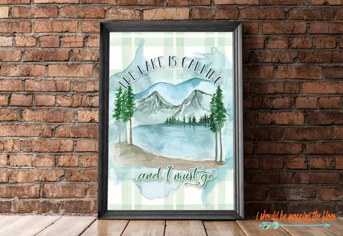 Printable Lake Art