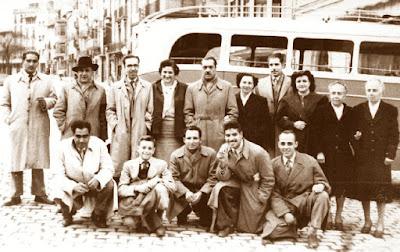 Equipo de ajedrez del Casal Catòlic de Sant Andreu en 1957