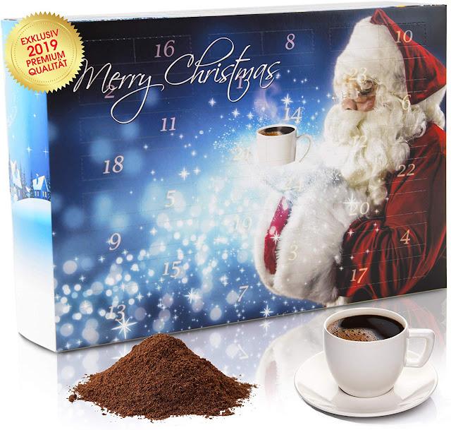 calendari dell'avvento con caffè