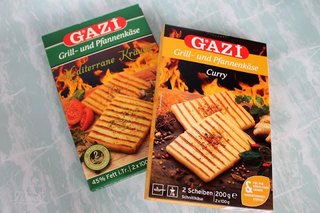 GAZI Grill- und Pfannenkäse in den Sorten 'Curry' & 'Mediterrane Kräuter'
