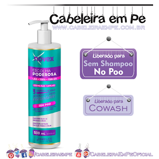 Multifuncional Escolha Poderosa (Creme Flex Capilar) - Novex (Liberado para No Poo e Cowash)