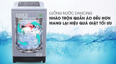 Lồng giặt Sazanami kết hợp với luồng nước Dancing