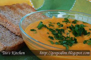 Crema de morcovi cu ghimbir