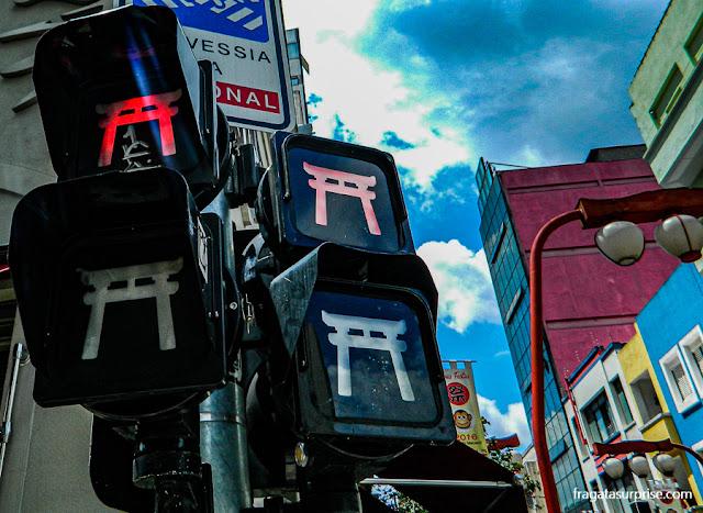 Semáforos temáticos em São Paulo