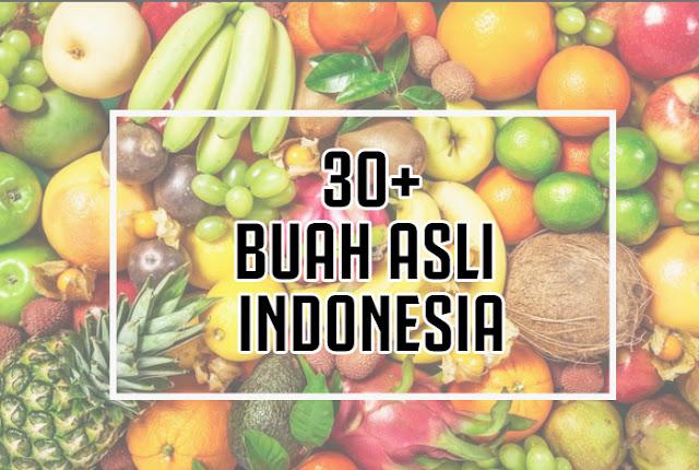 30+ Buah Asli Indonesia