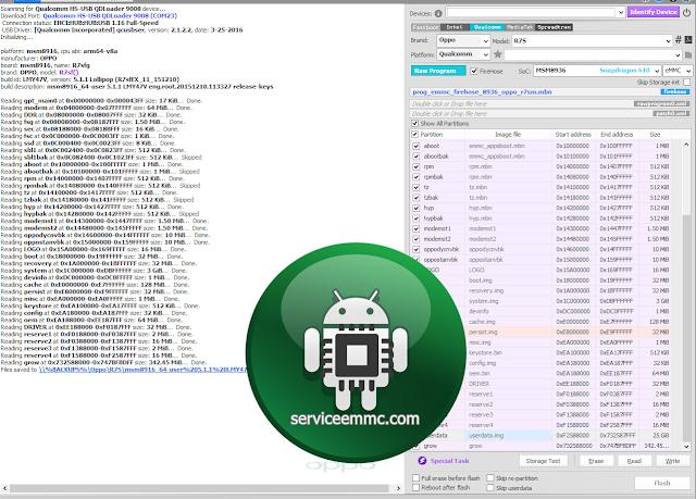Firmware Oppo R7s Backupan Normal Dari UFI BOX