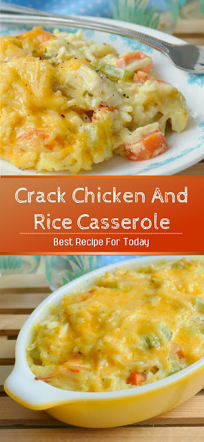 Crack Chicken And Rice Casserole Recipe #chicken #dinner #pasta #casserole