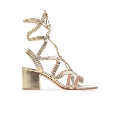 Gianvito Rossi Spring Summer 2016 Shoes  Hydra Mid block heel metallic gladiator sandals
