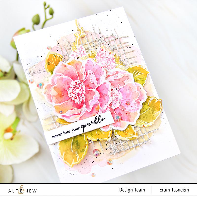 Altenew Build-A-Flower: Wild Rose | Erum Tasneem | @pr0digy0