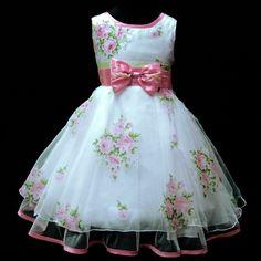 vestido florido para daminha de casamento