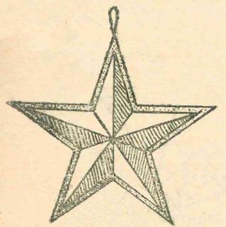 Выпуклая звезда из бумаги