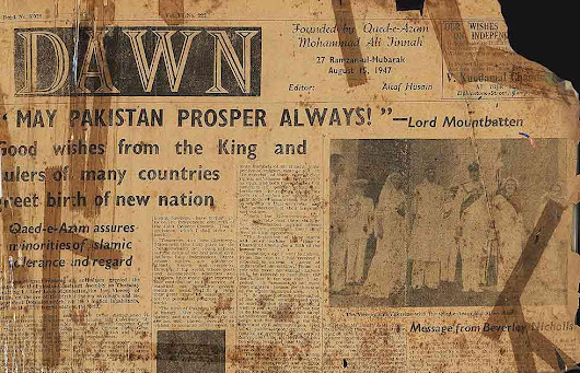 Partition of India & Creation of Pakistan In Newspapers - 14th August 1947