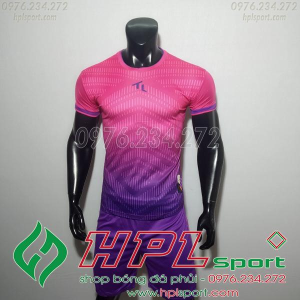 Áo bóng đá không logo TL HML Rius Màu Hồng