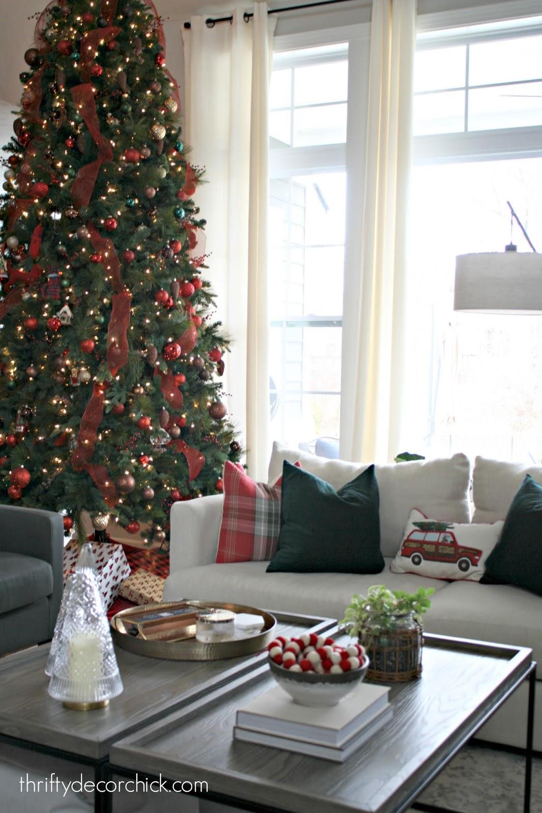 Decorating 12 foot Christmas tree