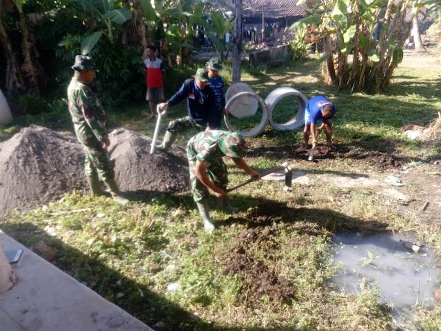 Sudah Lebih 4 Jamban Yang Dikerjakan TNI Kodim Klaten Bersama Warga