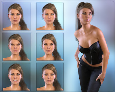 Z Subtle Emotion - Morph Dial Expressions for the Genesis 3 Female