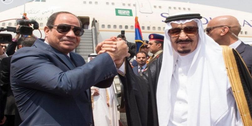 سلمان و السيسي,السعودية تعلن عن دعمها لتلويح الرئيس المصري بتدخّل عسكري مباشر في ليبيا.