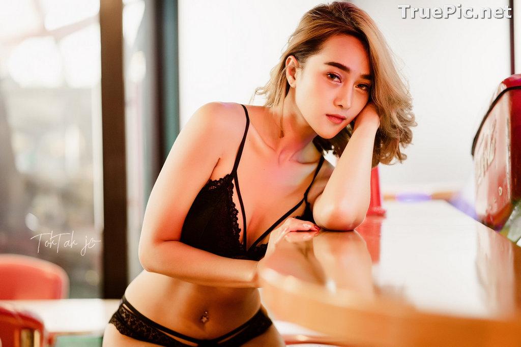 Image Thailand Model - YingGy Ponjuree - Black Lingerie - TruePic.net - Picture-4