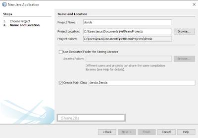 Program sederhana denda dvd menggunakan java netbeans
