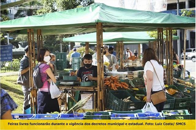 Armazéns, sacolões, restaurantes populares, mercados e feiras têm adequação de horário