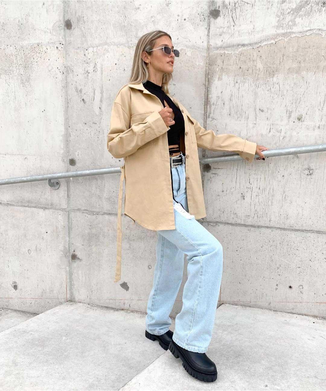 pantalones rectos tiro alto mujer invierno 2021