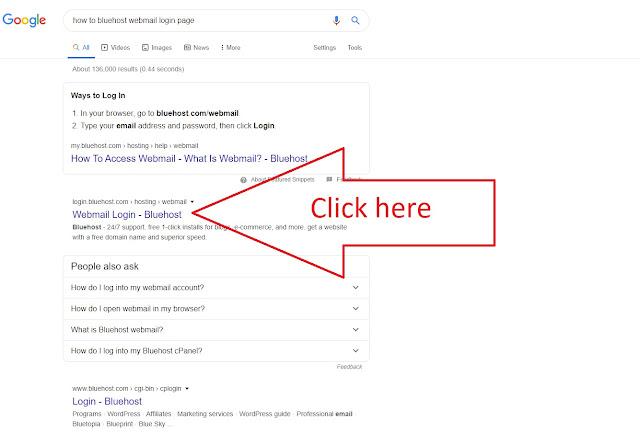 Bluehost webmail login
