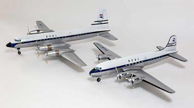 Bristol Britannia 102 and Canadair C-4 Argonaut from Welsh Models