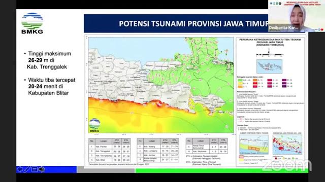 Warga Jatim Harus Waspada, BMKG Ingatkan Potensi Tsunami 29 Meter
