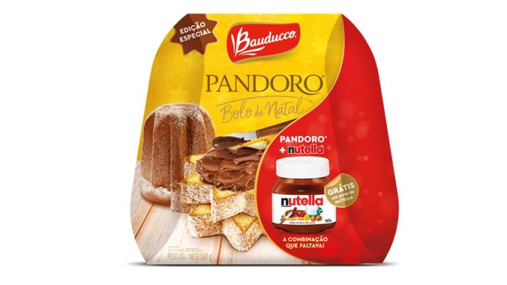 Bauducco lança Pandoro Nutella