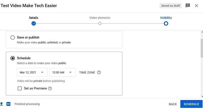 تحميل جدول فيديو يوتيوب