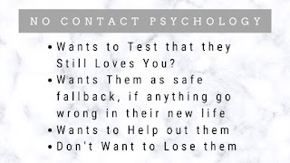 No contact Psychological Trap