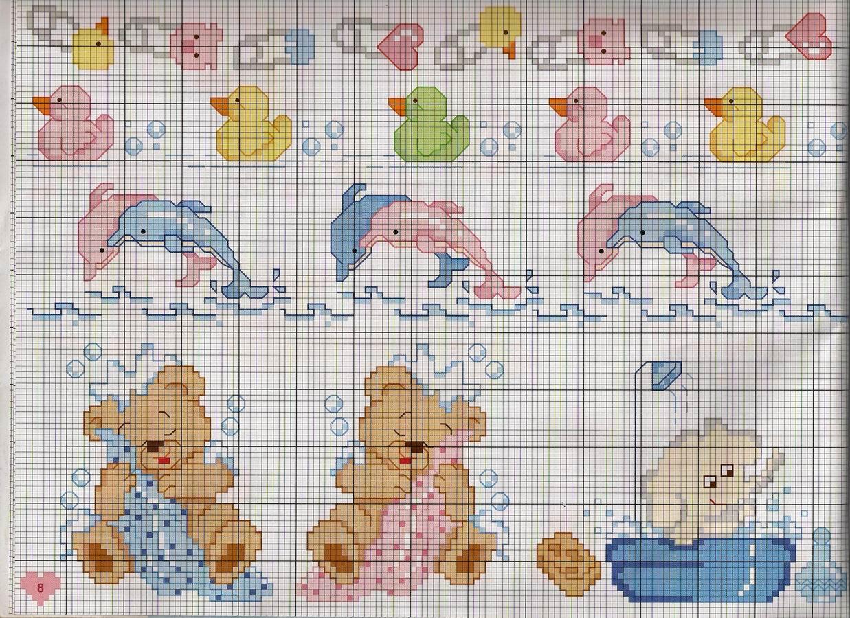 Gr ficos ponto cruz ponto cruz beb for Alfabeto a punto croce per neonati